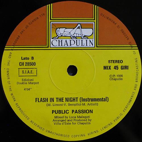 Public Passion - Flash In The Night (Maxi 86')