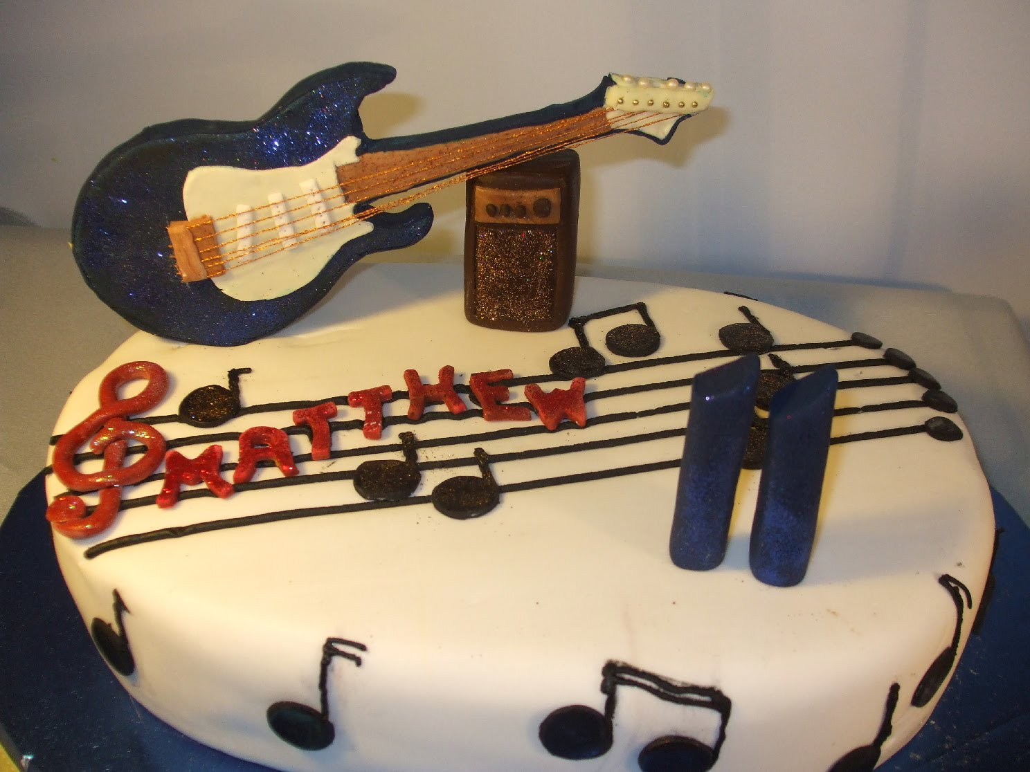 Birthday Cake Topper Guitar Image Inspiration of Cake and Birthday