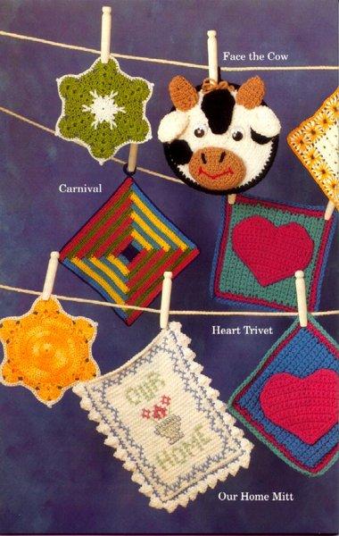 Potholders More Crochet 7 el örgüsü mutfak süsleri