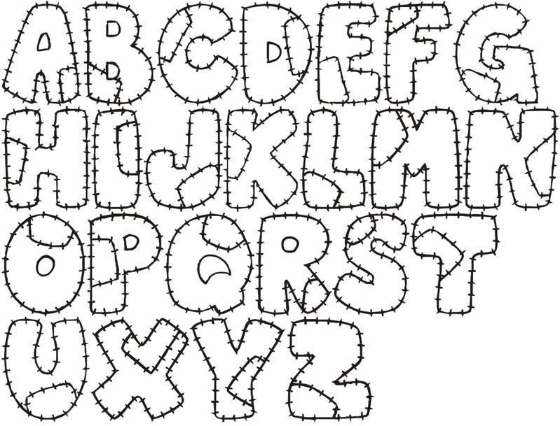 Moldes De Alfabeto Diferentes