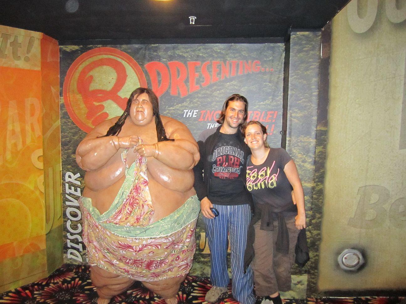 Das war wohl der fetteste mensch der welt da sehen wir ja richtig