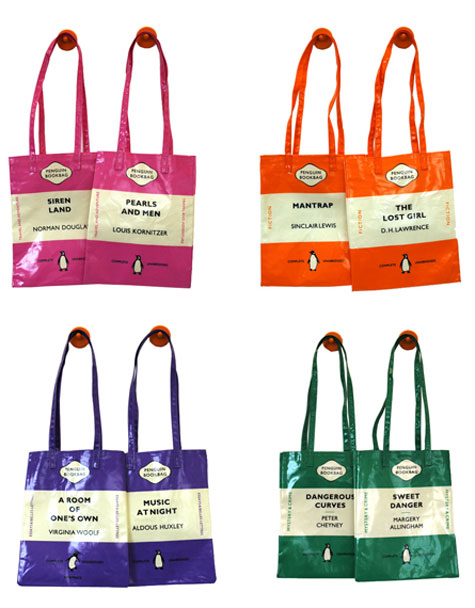 Penguin Book Cover Bag : The terrier and lobster penguins un books