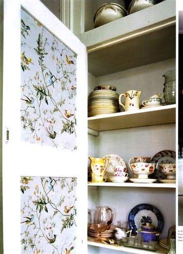 Wallpaper Your Cupboard Doors