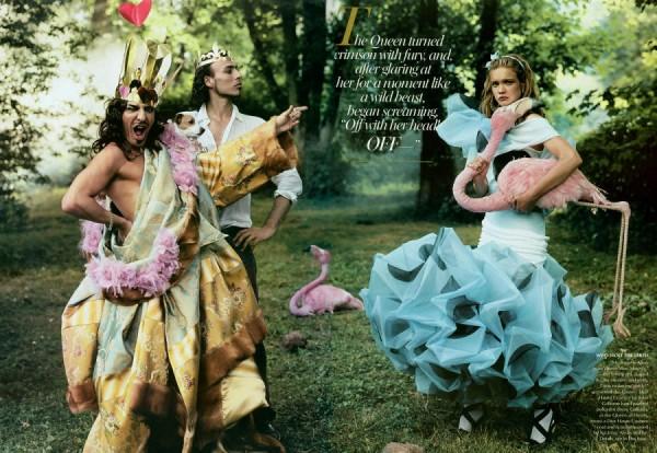 Bộ hình Alice in Wonderland cùng ntk John Galiano.