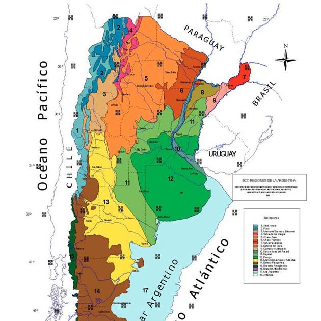 Biolog a latina ecorregiones de la argentina for Ambientes de argentina