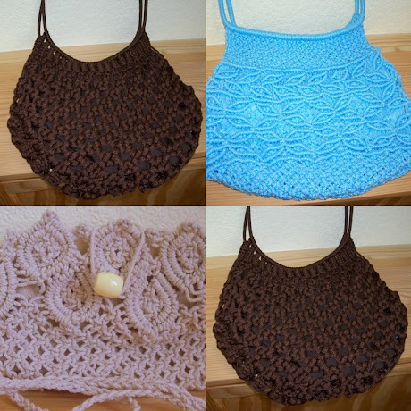 Collage of My Macramé Bags