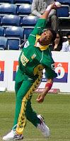 Makhaya Nini South African Cricket Player Fast Bowler