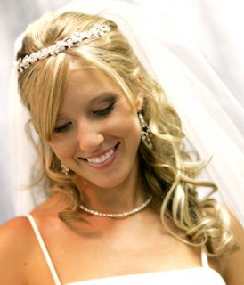 Bridal Half Updo for long length hair