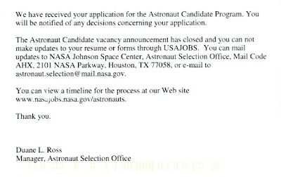 nasa astronaut resume