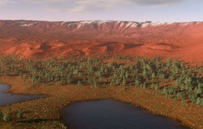 What a terraformed mars would look like.
