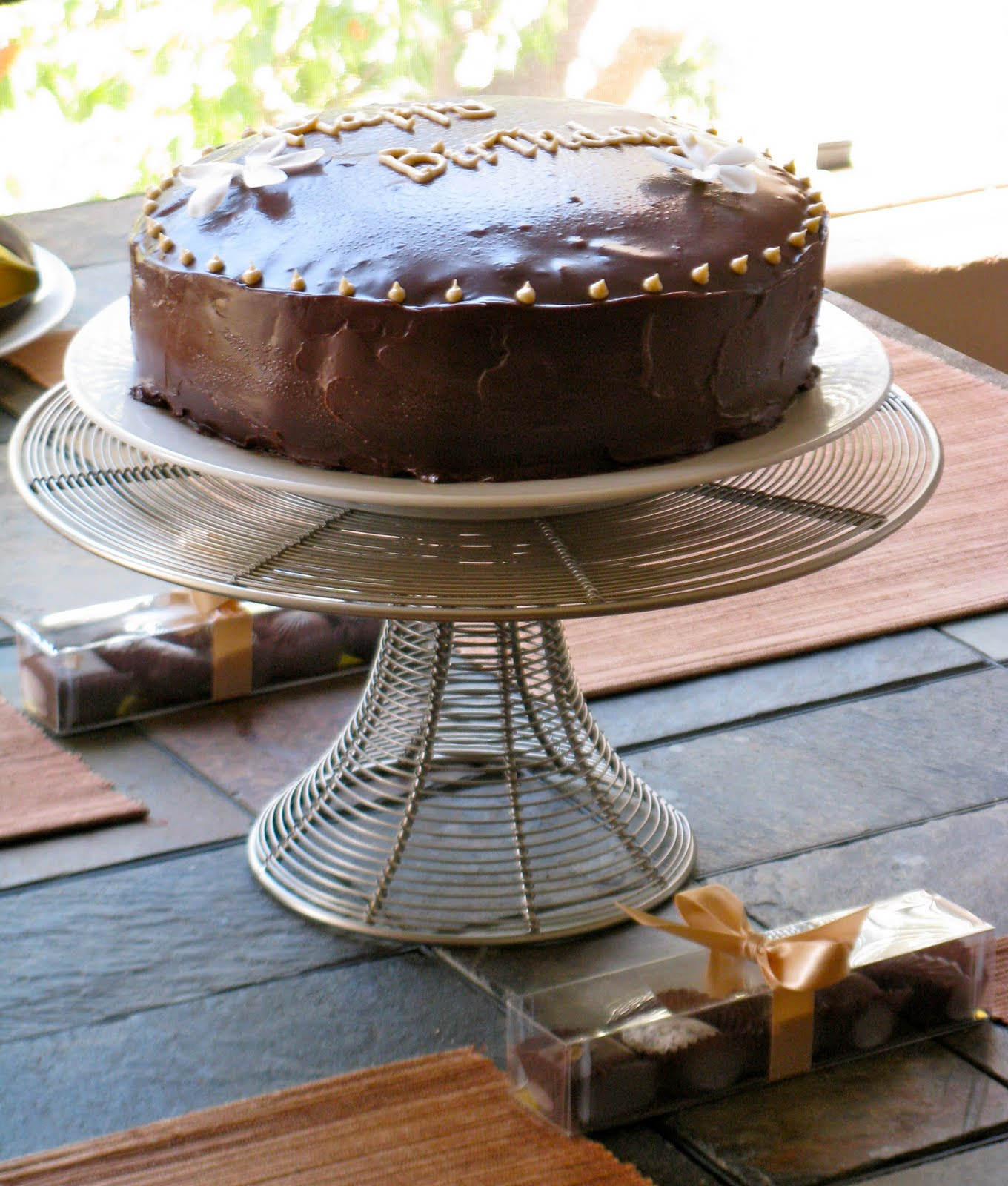 Chocolate and Salted Caramel Birthday Layer Cake