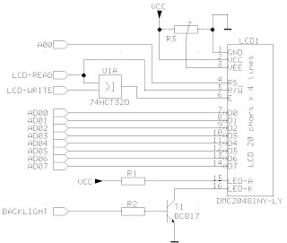 circuit diagram to interface LCD with Microcontroller 8051