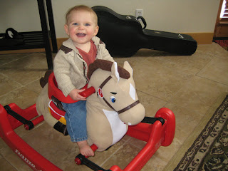Check out my new rocking horse!