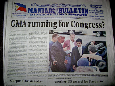 My Blog Photo in a Philippine Newspaper