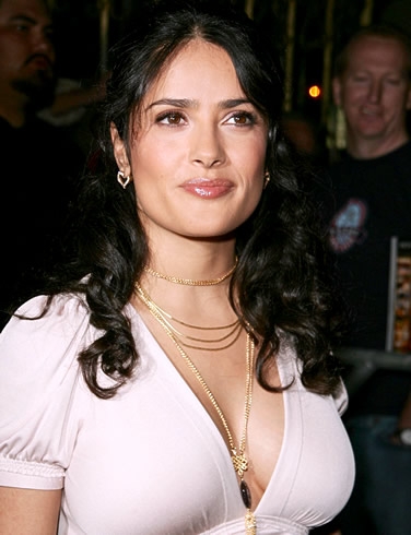 Salma Hayek hot boobs