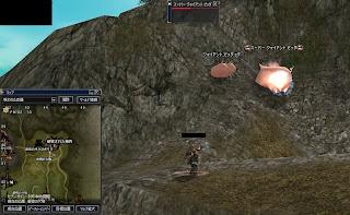 破壊された城砦付近で豚狩り