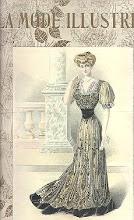 Mooie oude mode plaat