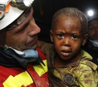 El rostro de la tragedia en Haití. AP