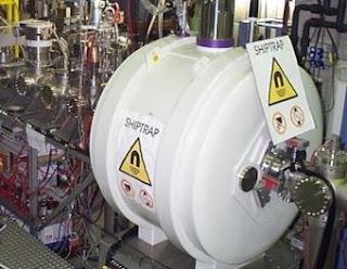 Instalación utilizada en el GSI para medir la masa del nobelio.- GSI