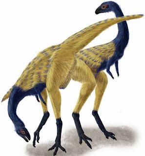 Recreación del dinosaurio Limusaurus inextricabilis, hallado en China. PORTIA SLOAN