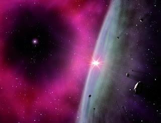 Visión artística del disco protoplanetario en los primeros instantes de formación del Sistema solar. Foto: Gabriel Pérez Díaz, Servicio MultiMedia, Instituto de Astrofísica de Canarias