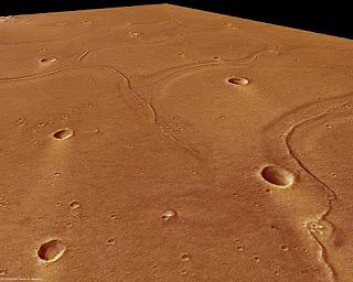 Imagen enviada por la sonda Mars Express de la superficie de Marte