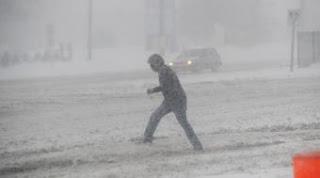 Fuerte nevada en Silver Spring, en Maryland. AFP