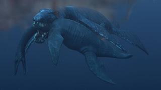 El pliosaurio, devorando a un plesiosaurio en los océanos. UNIVERSIDAD DE OSLO