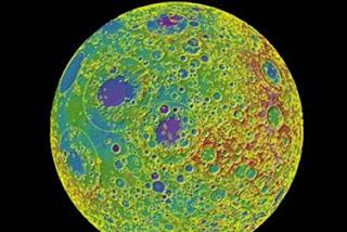 Topografía de la Luna obtenida por la misión LRO. NASA / Science