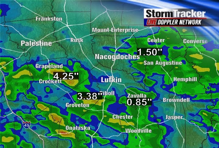 Weather For Livingston Texas : The Weather Blog: Severe Storms, Heavy Rain Invade East Texas