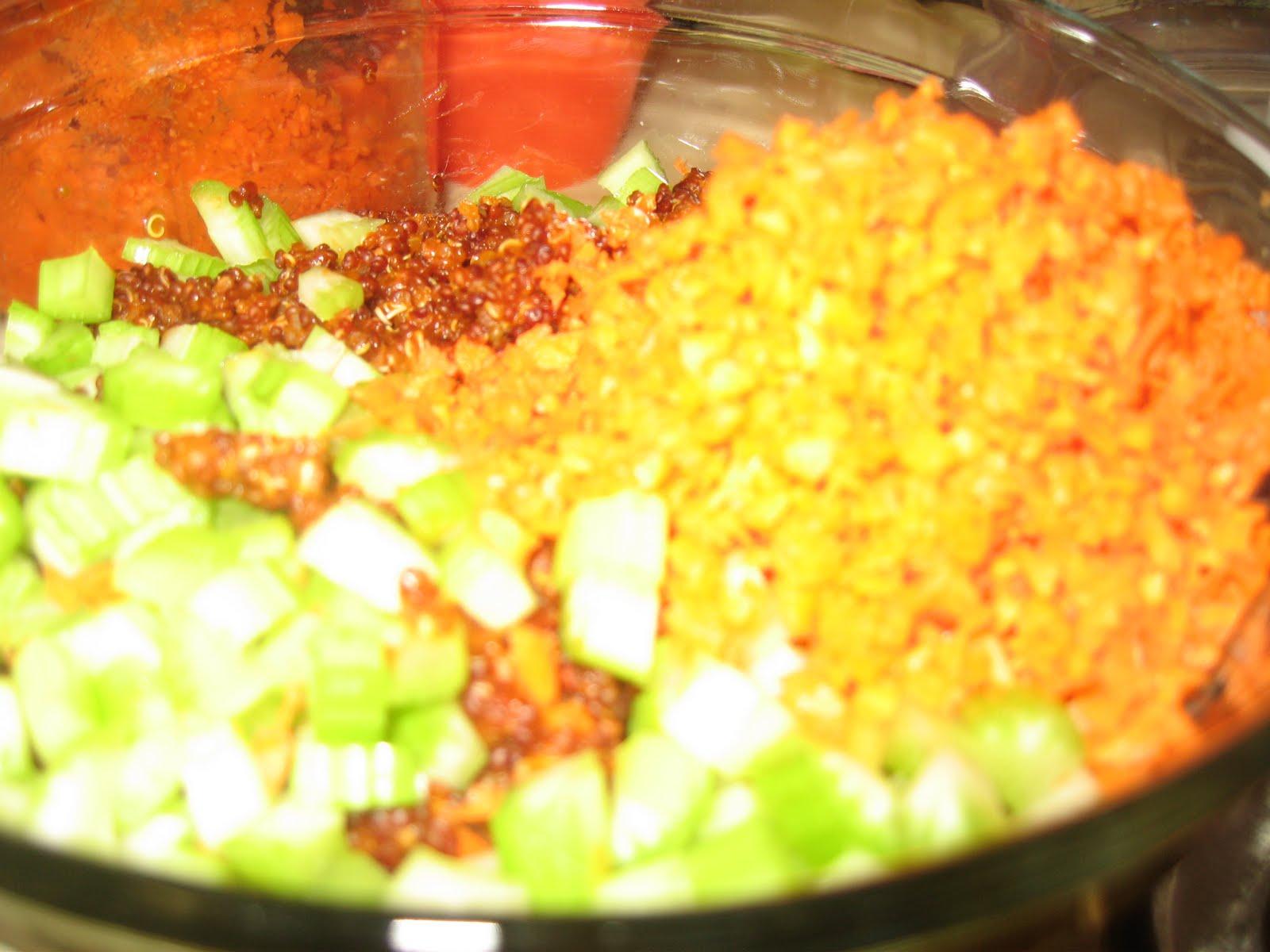 SUMADHURAQuinoa Tabouleh/Quinoa Salad with Mint Cilantro Pesto