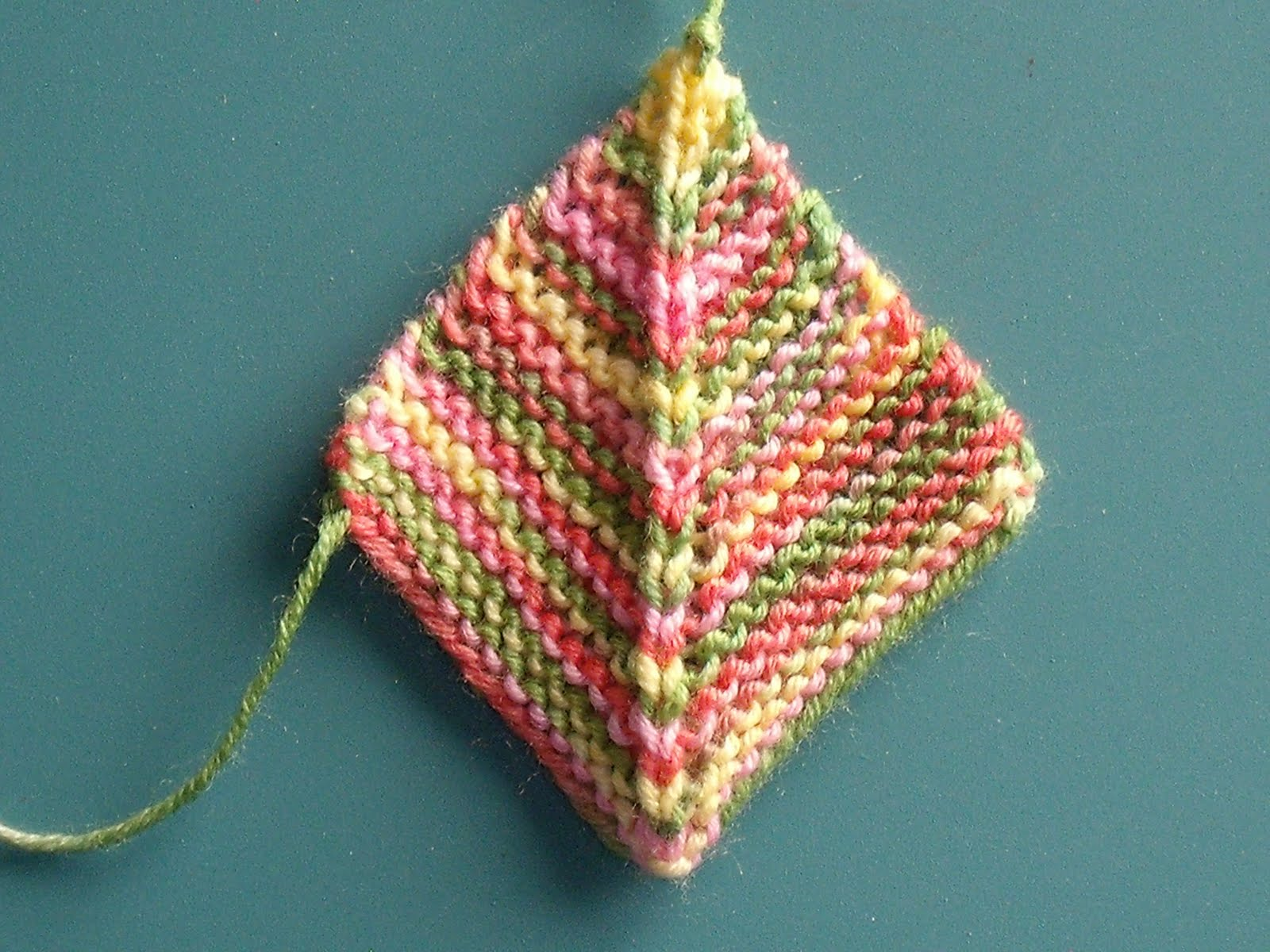 Knitting Patterns For Mitered Squares : Easy Crochet Pattern: Knit Mitered Square Blanket