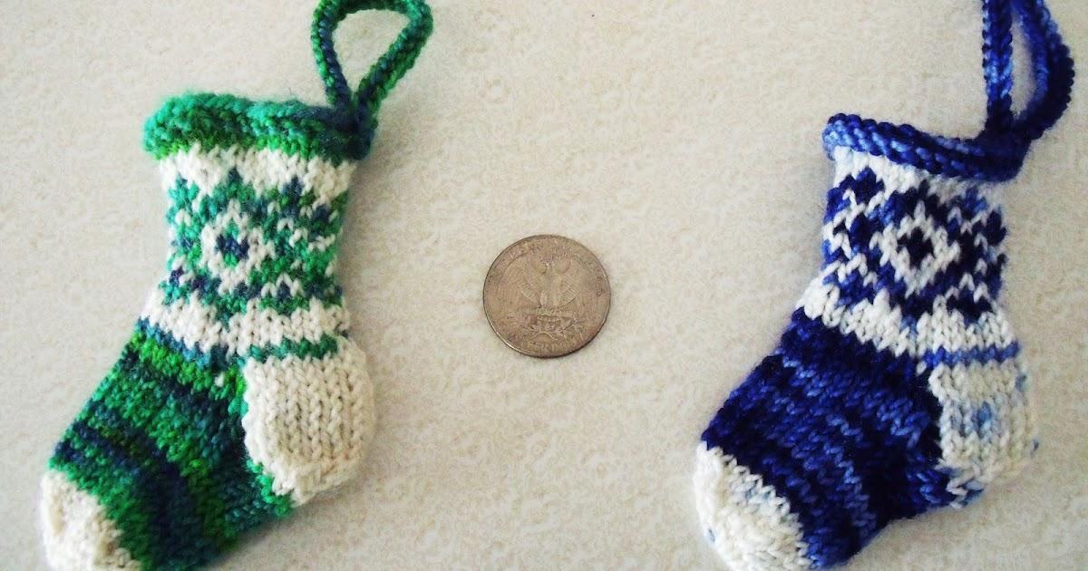 Loose Threads: Fair Isle Miniature Knit Christmas Stockings