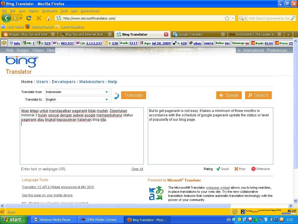 bing transla... Bing Translator