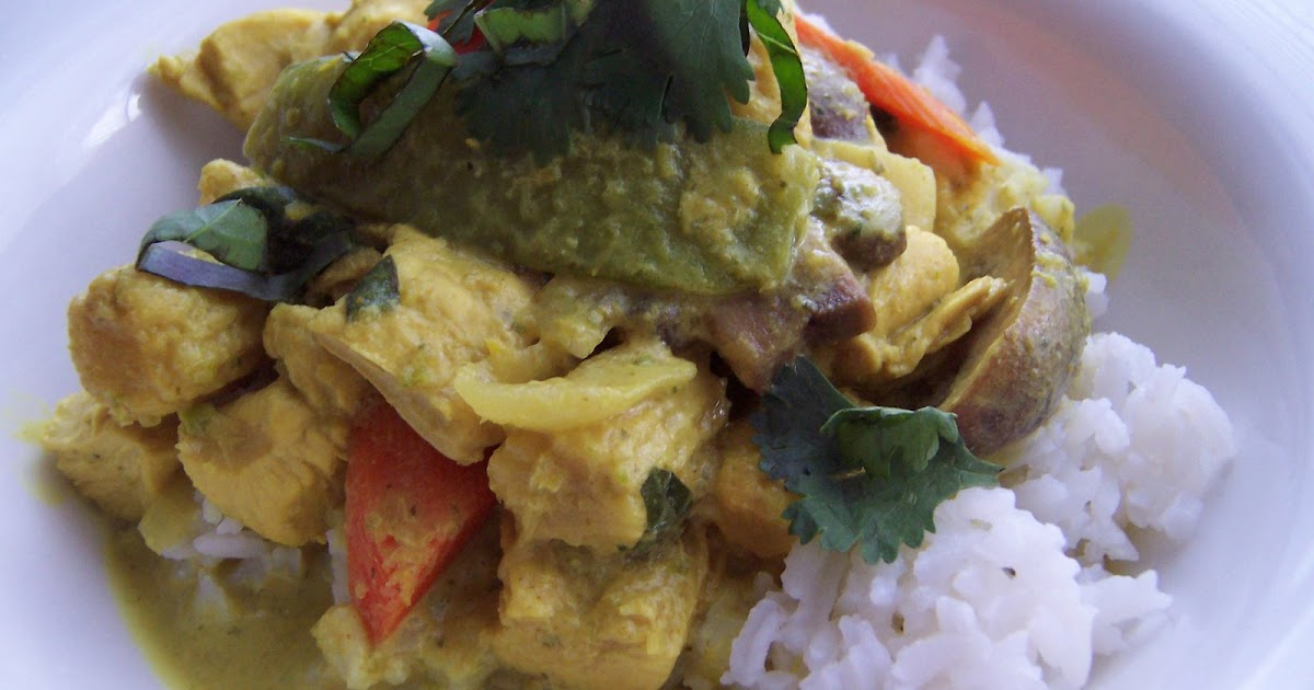 Kirsten 39 s recipes thai green coconut curry with chicken for 4912 thai cuisine