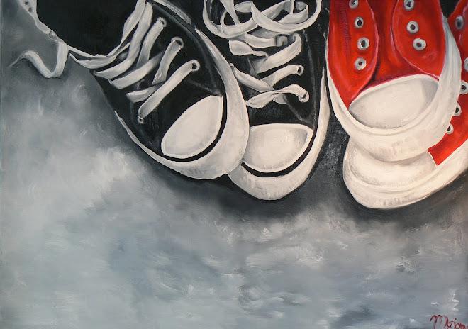 """""""vier op een rij""""  sportschoenen"""