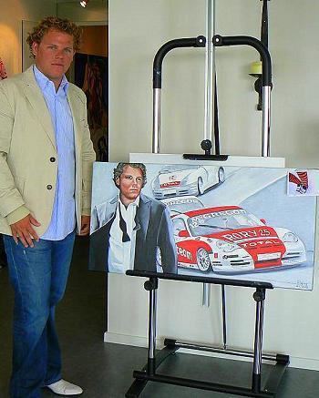 Rory Bertram en zijn schilderij