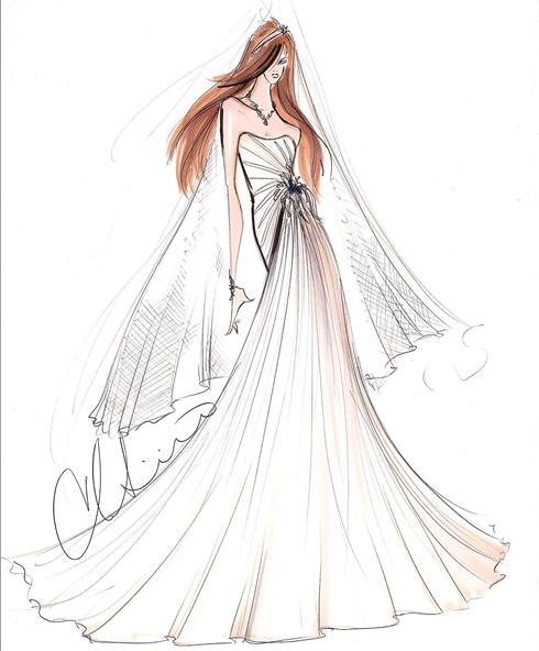 stacy keibler kate middleton wedding dress designer sketches