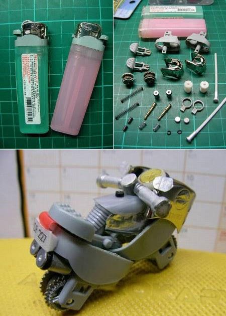 Как сделать мотоцикл с зажигалки