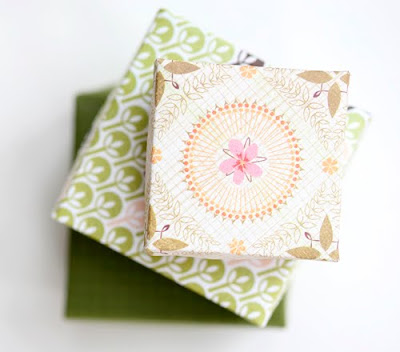 paper crafts for gifts: origami paper boxes