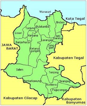 Peta Wilayah Kodya Brebes