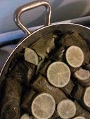 involtini di foglie di vite con ripieno di carne