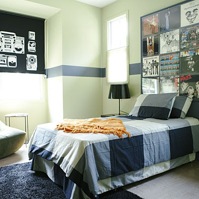 Bedroom on Bedroom For Boys With Green  Walls Blue Bed Pictures And Bedroom