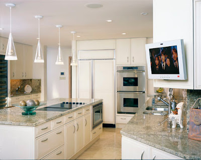Ulta-modern-design-kitchen-with-build-in-kitchen-appliances-plasma-TV-lighting-fixtures-and-kitchen-furniture