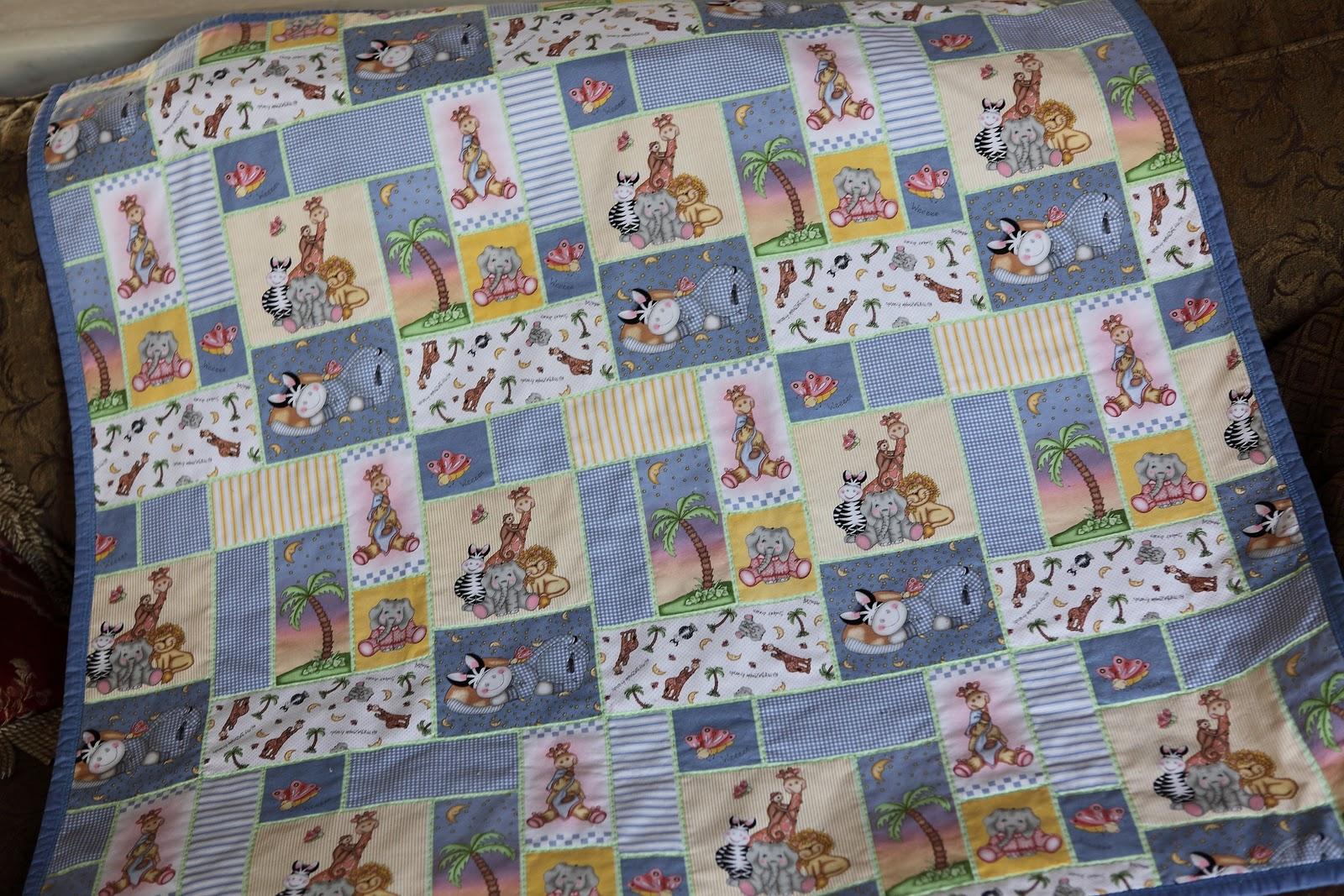 Sweet Petal Stitchery: Blue Baby Zoo Animal Quilt : blue baby quilt - Adamdwight.com