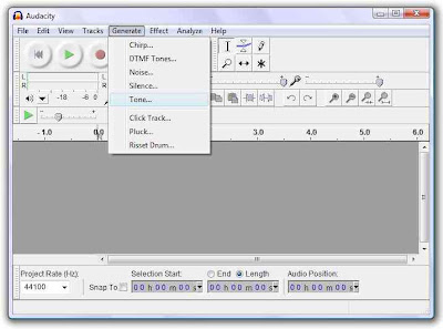 Generating fundamental tones in Audacity