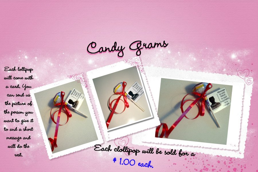 The youth is moving forward with GOD: Candy Grams