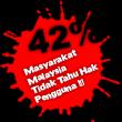 42% Tak Tahu Hak Pengguna