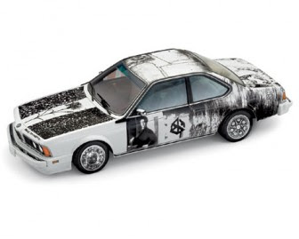 BMW 635 CSi Art Car Robert Rauschenberg miniature