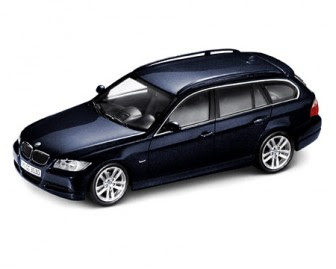 miniature BMW 3 Touring E91 blue